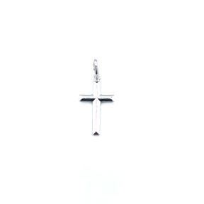 CRUZ PLATA LISA 2,5X1,2 CM